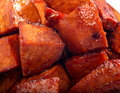 Glazed sweet potatoes Stock Images