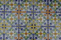 Glazed tile design typical colorful of andalusia spain Stock Photos