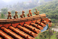 Glazed tiles cornices of baoen temple ningde city china Royalty Free Stock Photography