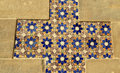 Glazed tiles which were used for decoration on pena the royal palace in sintra portugal Royalty Free Stock Photography
