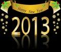 Glückliches neues Jahr 2013 Lizenzfreies Stockbild
