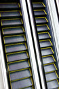 Gleam of automatic escalator Royalty Free Stock Photo