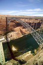 Glen Canyon Dam Bridge Stock Images