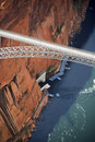 Glen Canyon Dam Bridge. Royalty Free Stock Photo