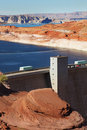 Glen Canyon Dam on the Colorado River Royalty Free Stock Photography