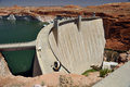 Glen canyon dam on the colorado river Stock Image