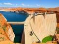Glen canyon dam concrete arch on the colorado river arizona usa Royalty Free Stock Photos
