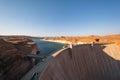 Glen Canyon Dam, Lake Powell, Arizona, USA Royalty Free Stock Photo
