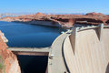 Glen canyon dam lake powell the near page arizona is a concrete arch built to provide hydroelectricity and flow regulation from Stock Photography