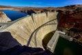 Glen canyon dam, lake powell Royalty Free Stock Photo