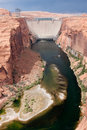 Glen Canyon Dam near Page, Arizona. Royalty Free Stock Image