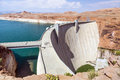 Glen canyon dam near page arizona Royalty Free Stock Images