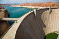 Glen canyon dam in page near at the colorado river Stock Images