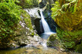 Glen Maye Waterfall in the Isle of Man Royalty Free Stock Photo