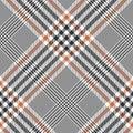 Glen plaid pattern in brown, orange, white. Royalty Free Stock Photo