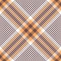 Glen plaid pattern in orange, brown, white. Royalty Free Stock Photo
