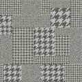 Glen Plaid pattern. Royalty Free Stock Photo