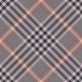 Glen plaid pattern vector. Tweed check plaid in dark blue, coral brown, and beige.