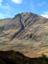 Glencoe from lost valley Stock Photography