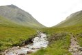 Glencoe valley river and path Stock Images