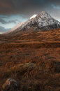 Glencoe in winter buachaille etive beag scotland with early snows on Stock Photo