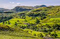 Glenridding seen from slopes of sheffield pike the in lake district england Stock Images