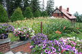 Glensheen Congdon Mansion gardens Royalty Free Stock Photo