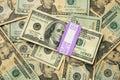 Gli S.U.A. 100 e 20 fatture del dollaro Fotografie Stock Libere da Diritti