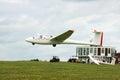 Glider landing Royalty Free Stock Photo