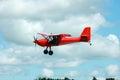 Glider towing plane landing Royalty Free Stock Photo