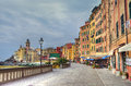 Glimpse of camogli genoa italy Stock Images