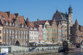 Glimpse city gdansk poland europe view of a of the river motlawa Stock Photography