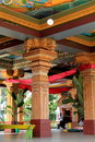 A glimpse inside the temple where visitors are not allowed sri siva subramaniya temple nadi fiji stunning beauty in architecture Royalty Free Stock Photo