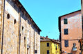 Glimpse in lucca tuscany italy Royalty Free Stock Images