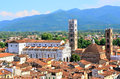 Glimpse in lucca tuscany italy Royalty Free Stock Photo