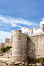 Glimpse of Peniscola, Spain Stock Photography