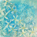 Glistening blue flower textured art background Royalty Free Stock Photo