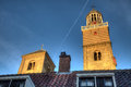 Glistening towers church in the late afternoon light utrecht Stock Image