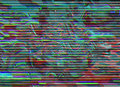 Glitch background. Computer screen error. Digital pixel noise abstract design. Photo glitch. Television signal fail Royalty Free Stock Photo