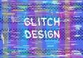 Glitch color dark transparent background