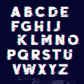 Glitch displacement type letters
