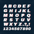 Glitch font with distortion effect. Deface Alphabet. Concept For Your Logo.