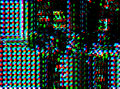 Glitch psychedelic background. Old TV screen error. Digital pixel noise abstract design. Photo glitch. Television signal
