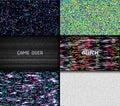 Glitch Texture Pixel Noise. Te...