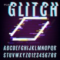 Glitched Abstract Design. Distorted Glitch Style Retro Background And Font. VHS - Banner, Poster, Flyer, Brochure. Vector Illust Royalty Free Stock Photo