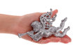 Glitter Christmas Angel toy in hand Royalty Free Stock Photo