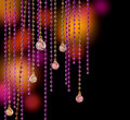 Glitter glamour curtains Royalty Free Stock Images