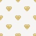 Glitter gold diamonds