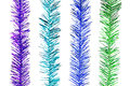 Glitter rainbow stripes for christmas decoration new year thanksgiving and other important festival that include purple aqua blue Stock Photos