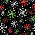 Glitter snowflake pattern Royalty Free Stock Photos